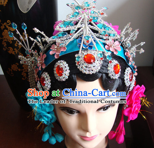 China Stage Performance Hua Tan Hairstyles Long Black Wigs Fascinators Fascinator Wholesale Jewelry Hair Pieces