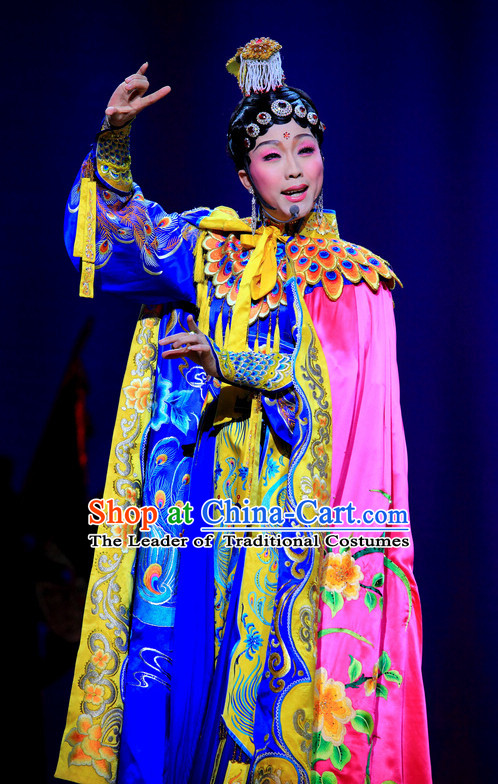 Ancient Chinese Palace Yu Ji Stage Queen Dance Costumes