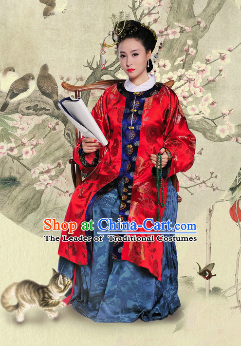 Chinese Ancient Dream of Red Chamber Wang Xifeng Costumes and Hair Jewelry