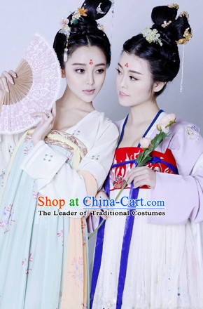 Asian Chinese Tang Dynasty Princess Halloween Costume Cosplay Costumes Complete Set