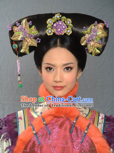 Asia China Qing Dynasty Princess Hair Jewelry Set
