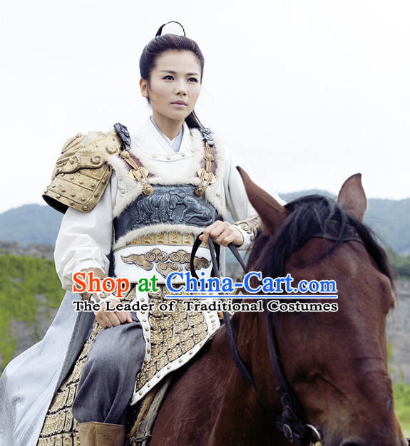 China Ancient Female Superhero Halloween Costumes Armor Cosplay