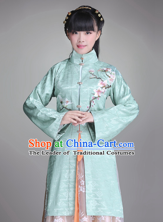 Ancient Chinese Song Ming Dynasty Princess Clothing and Hair Jewelry Complete Set for Women