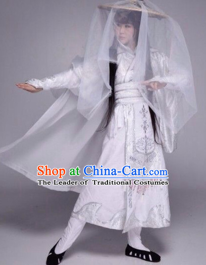 Ancient Chinese Mysterious Killer Halloween Costume and Hat Complete Set for Women