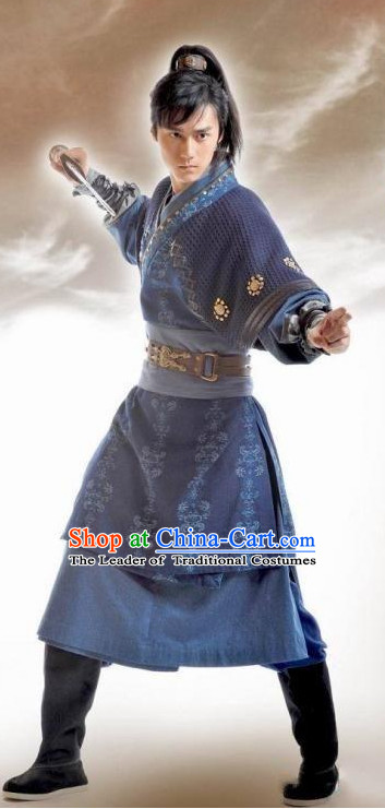Asian Chinese Kung Fu Master Halloween Costume Cosplay Hanfu Dresses for Men