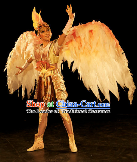 Stage Opera Angel Costumes with Giant Wings