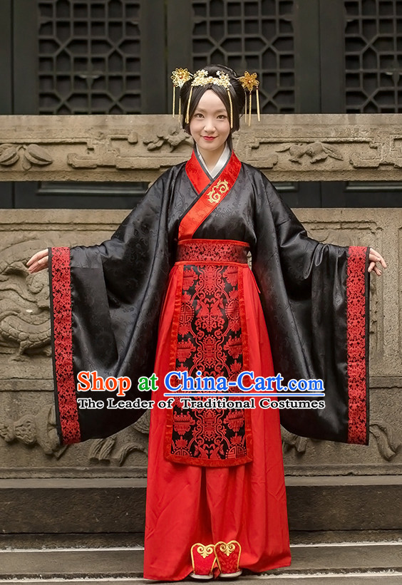 Western Zhou Dynasty Ceremonial Clothing Costume and Hair Accessories Complete Set for Women