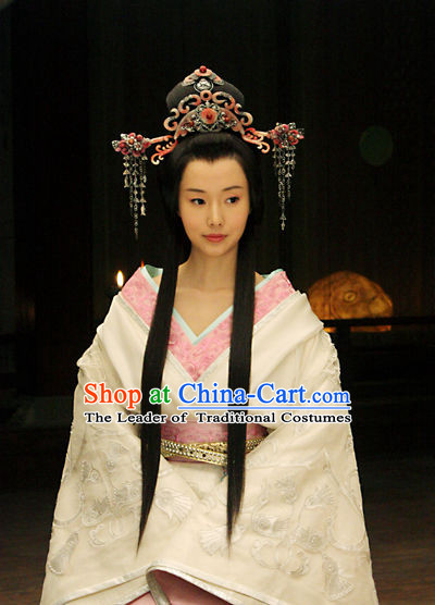 Eastern Zhou Princess Clothing and Hair Accessories Complete Set for Women