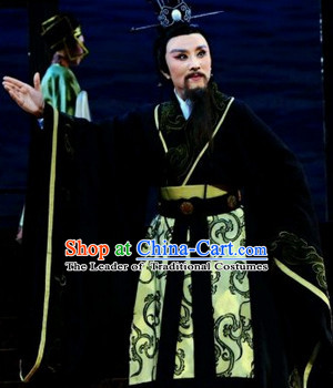 Eastern Zhou Dynasty Spring and Autumn Official Patriotic Poet Qu Yuan Stage Costume Complete Set for Men