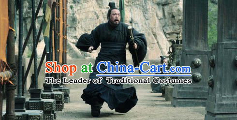 Eastern Zhou Dynasty Spring Autumn Zi Lu Costume Complete Set for Men