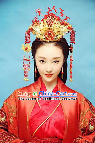 Chinese Eastern Zhou Dynasty Imperial Palace Empress Princess Crown for Women
