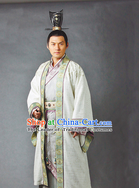 China Eastern Zhou Dynasty Sun Tzu Sun Wu Chinese Military Strategist Chinese Costume Complete Set for Men
