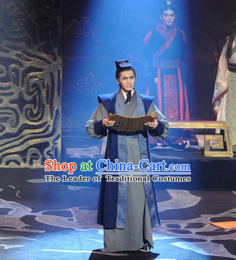 China Eastern Zhou Dynasty Spring Autumn Period Guan Zhong Kuan Chung Chancellor and Reformer Chinese Costume Complete Set for Men