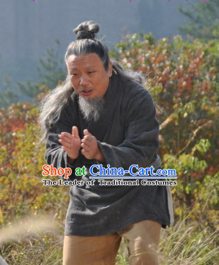 Chinese Costume Chinese Costumes National Garment Outfit Clothing Clothes Ancient Jin Dynasty Old Men Clothing