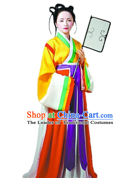Chinese Costume Chinese Costumes National Garment Outfit Clothing Clothes Ancient Jin Dynasty Women Garment Outfits Dresses for Girls