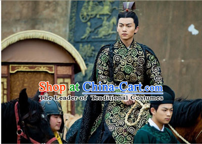 Period of the Northern and Southern Dynasties Chinese Costume Chinese Classic Costumes National Garment Outfit Clothing Clothes Emperor Costume for Men