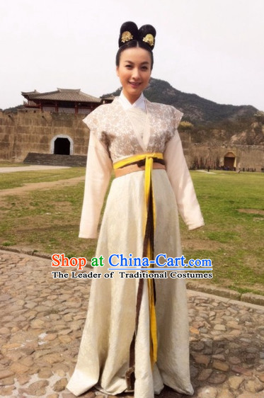 Chinese Costume Five Dynasties Chinese Classic Maid Costumes National Garment Outfit Clothing Clothes for Women