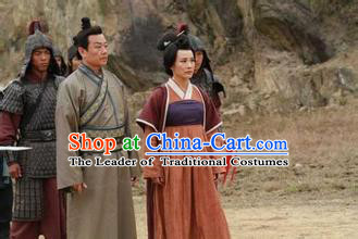 Chinese Costume Sui Dynasty Period Chancellor Costumes China Clothing Complete Set for Men and Women