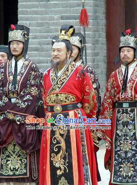 Ancient Chinese Tang Dynasty Costume Emperor Li Yuan Costumes Complete Set for Men
