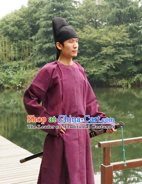 Tang Dynasty Chinese Poet Musician Painter and Statesman Wang Wei Costumes Costume Complete Set for Men