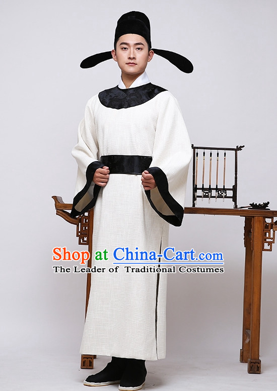Tang Dynasty Chinese Famous Poet Wang Changling Costumes Costume Complete Set for Men