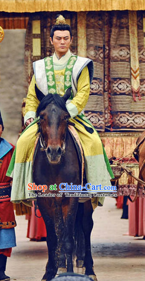 Tang Dynasty Chinese Prince Outfits Clothing Costumes Costume Complete Set for Men