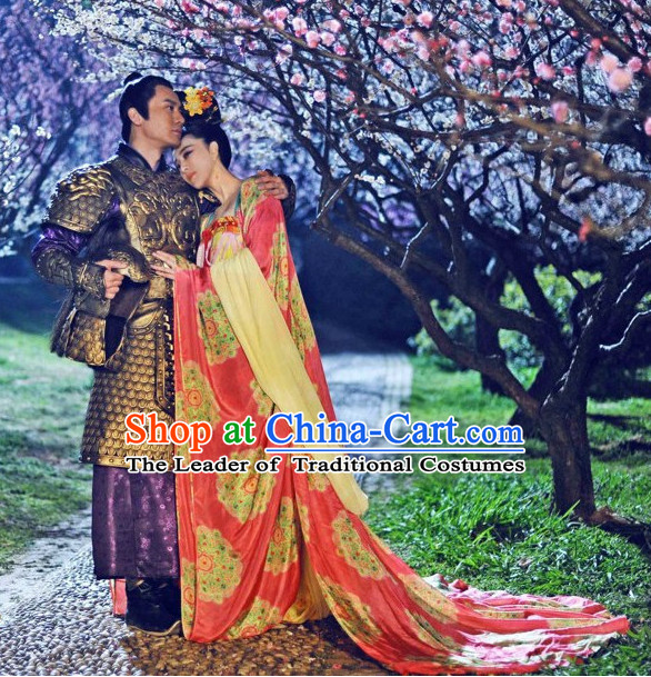 Tang Dynasty Chinese General and  Beauty 2 Complete Sets for Women and Men