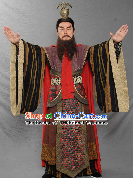 Ancient Chinese Costume Three Kingdoms Emperor Costumes Garment Outfits Clothing for Men