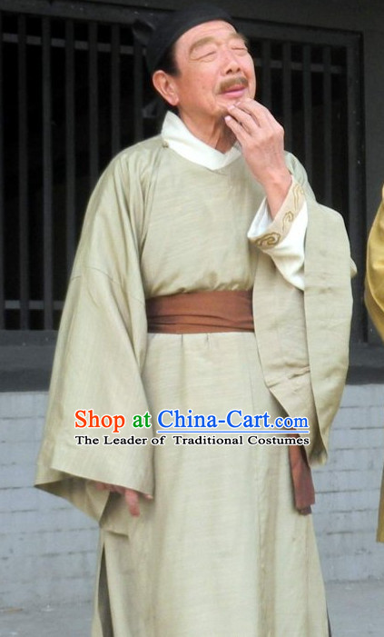 Chinese Artist of the Tang Dynasty Painter Wu Daozi Costume Complete Set