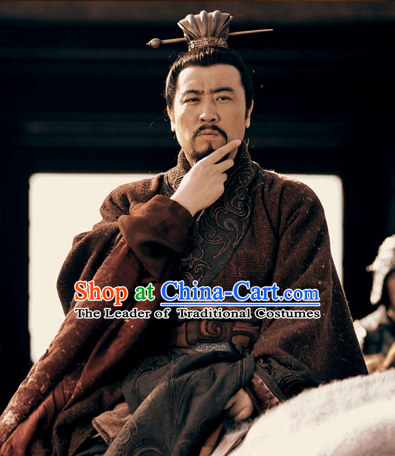 Three Kingdoms Chinese Chancellor Costume Costumes Clothing Clothes Garment Outfits Suits for Men