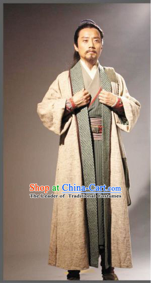 Song Dynasty Song Jiang Superhero Costume Costumes Dresses Clothing Clothes Garment Outfits Suits Complete Set for Men