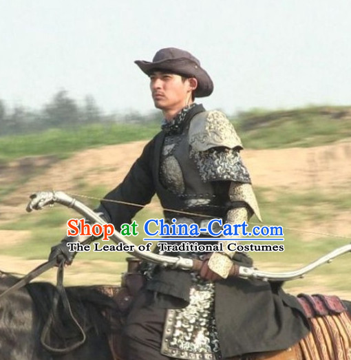 Song Dynasty Yang Family General Body Armor Costume Costumes Dresses Clothing Clothes Garment Outfits Suits Complete Set for Men