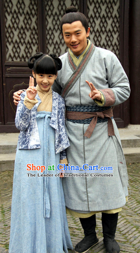 Song Dynasty People Costume Costumes Dresses Clothing Clothes Garment Outfits Suits Complete Set for Men