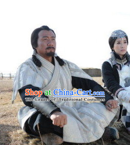 Yuan Dynasty Genghis Khan Genghis Khan Costume Costumes Dresses Clothing Clothes Garment Outfits Suits Complete Set for Men