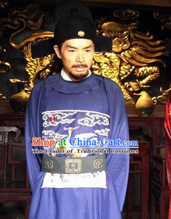 Ming Dynasty Official Reformer Statesman Zhang Juzheng Costumes Dresses Clothing Clothes Garment Outfits Suits Complete Set for Men