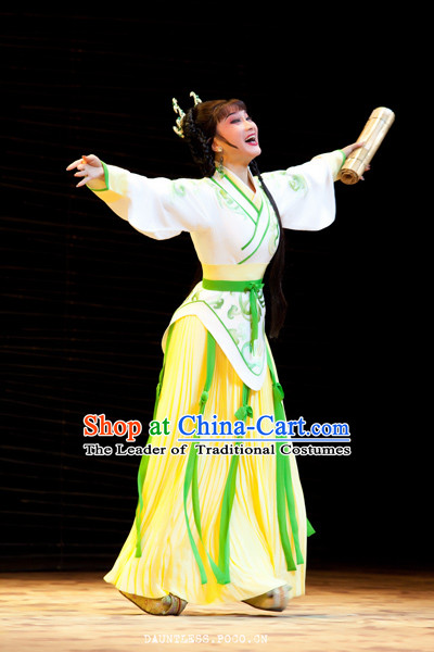 Chinese Costume Beauty Xi Shi Opera Costumes Dresses Clothing Clothes Garment Outfits Suits Complete Set for Women