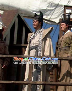 Ming Dynasty Mariner Explorer Diplomat Fleet Admiral Zheng He General Costumes Dresses Clothing Clothes Garment Outfits Suits Complete Set for Men