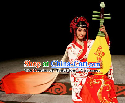 Chinese Han Dynasty Wang Zhaojun Costume Dresses Clothing Clothes Garment Outfits Suits Complete Set for Kids