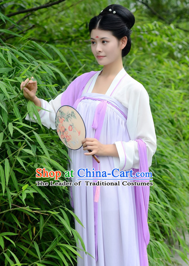 Ancient Chinese Costumes Free Custom Tailored Tang Dynasty Classic Garment Costume for Women