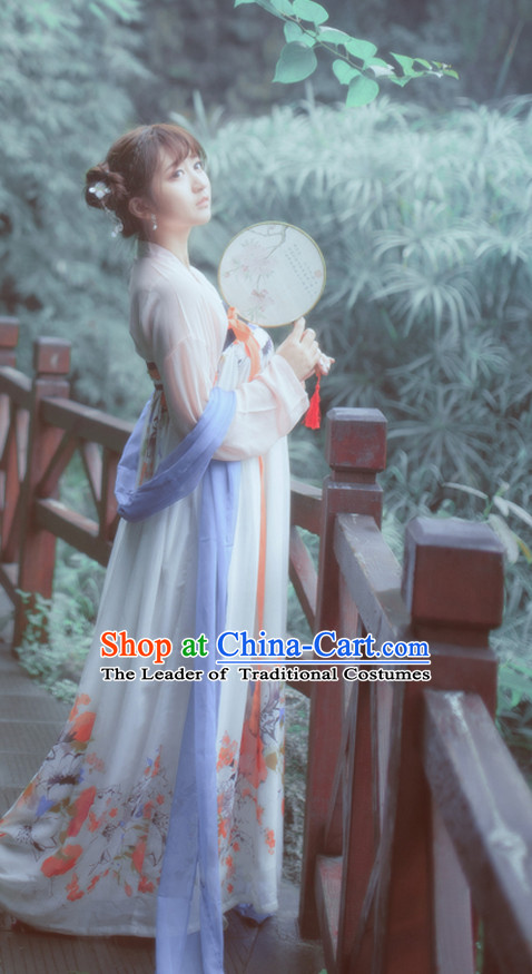 Tang Dynasty Ancient Chinese People Garments and Headpieces Complete Set for Women