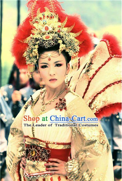Chinese Ancient Style Queen Hair Jewelry Accessories Hairpins Headwear Headdress Hair Fascinators for Women