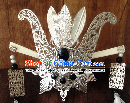 Chinese Ancient Style Prince Hair Jewelry Accessories Hairpins Headwear Headdress Hair Fascinators for Women