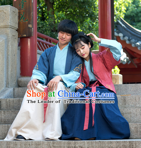 Chinese Couple Costume Chinese Costumes Hanfu Han Dynasty Ancient China Clothing Dress Garment Suits Complete Set for Men and Women