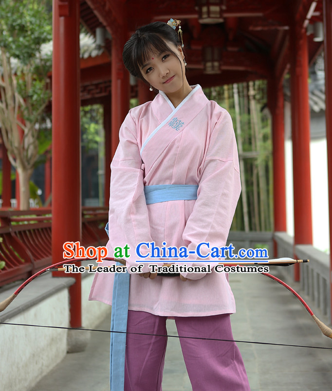 Chinese Costume Chinese Costumes Hanfu Han Dynasty Ancient China Scholar Clothing Dress Garment Suits Clothes Complete Set for Women