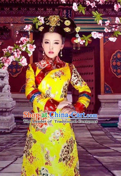 Qing Dynasty Women Empress Queen Costumes Kimono Costumes Costume Wholesale Clothing Dance Costumes Cosplay