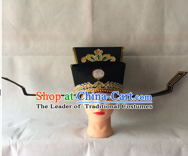 Chinese Traditional Opera Official Black Hat
