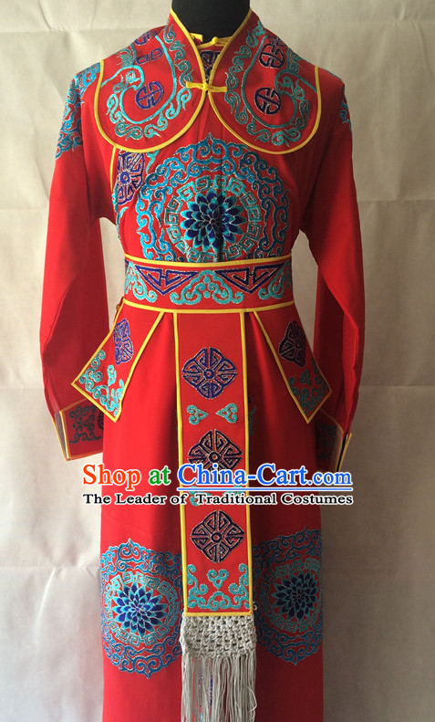 Chinese Opera Military Wusheng Costume Traditions Culture Dress Masquerade Costumes Kimono Chinese Beijing Clothing for Men