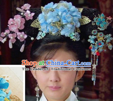 Chinese Qing Dynasty Princess Headwear Headpieces Hair Jewelry Headdress for Women
