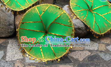 Giant Chinese Dance Apparel Flower Props Folk Dancing Prop Lotus Leaf Decoration