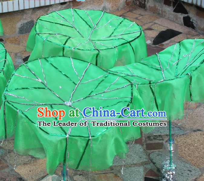 Chinese Dance Apparel Flower Props Folk Dancing Prop Lotus Leaf Decoration